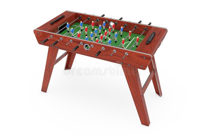 Lek för fotbolltabellfotboll framförande 3d stock illustrationer