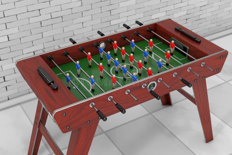 Lek för fotbolltabellfotboll framförande 3d royaltyfri illustrationer
