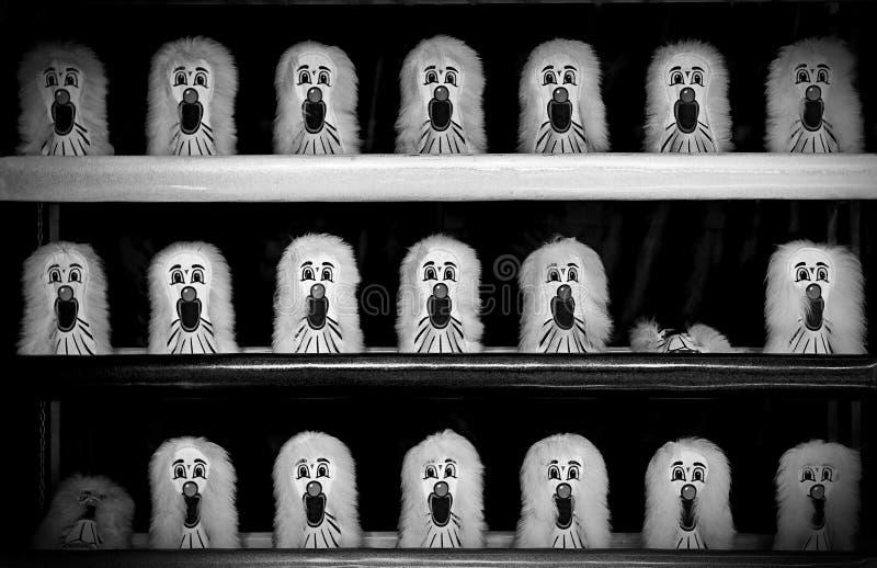Lek för karneval för clownBall dugg arkivfoton