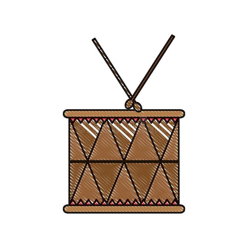 Lek för objekt för klotterträvals musikalisk vektor illustrationer