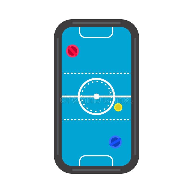 Lek för rekreation för utrustning för konkurrens för bästa sikt för lufthockeytabell Den plana symbolsvektorn isolerade vitt vektor illustrationer