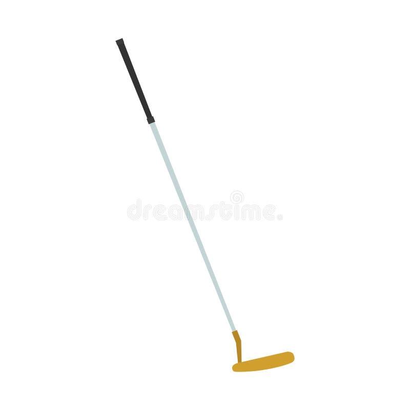 Lek för symbol för hobby för utrustning för boll för illustration för golfklubbputtervektor sport isolerad royaltyfri illustrationer
