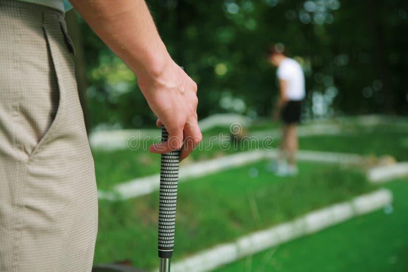 Lek i en golf fotografering för bildbyråer