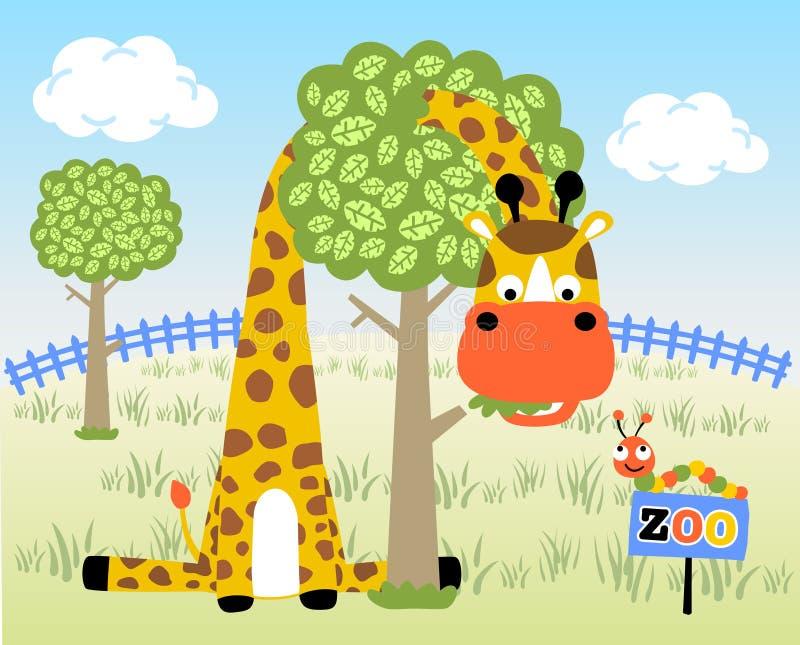 Lek i zoo royaltyfri illustrationer