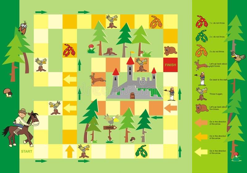 Lek - väg till slotten royaltyfri illustrationer