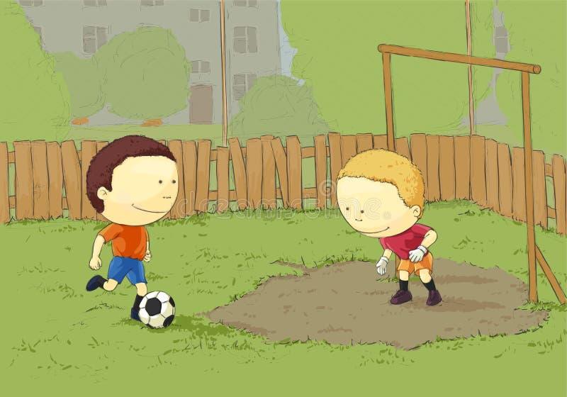 leka för barnfotboll vektor illustrationer