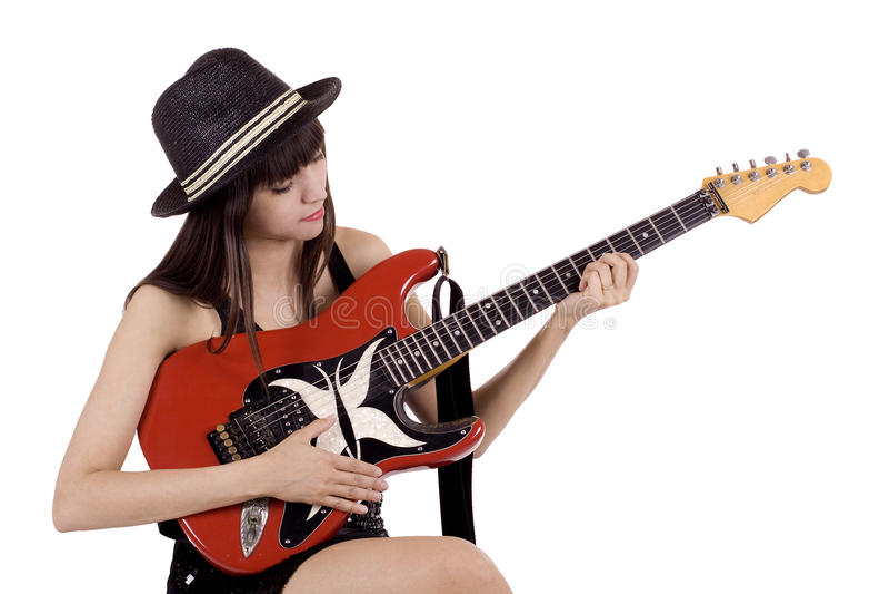 leka för countrymusik fotografering för bildbyråer