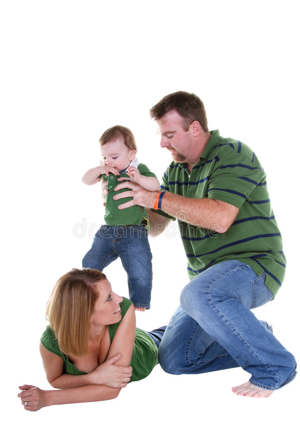leka för familj arkivfoton
