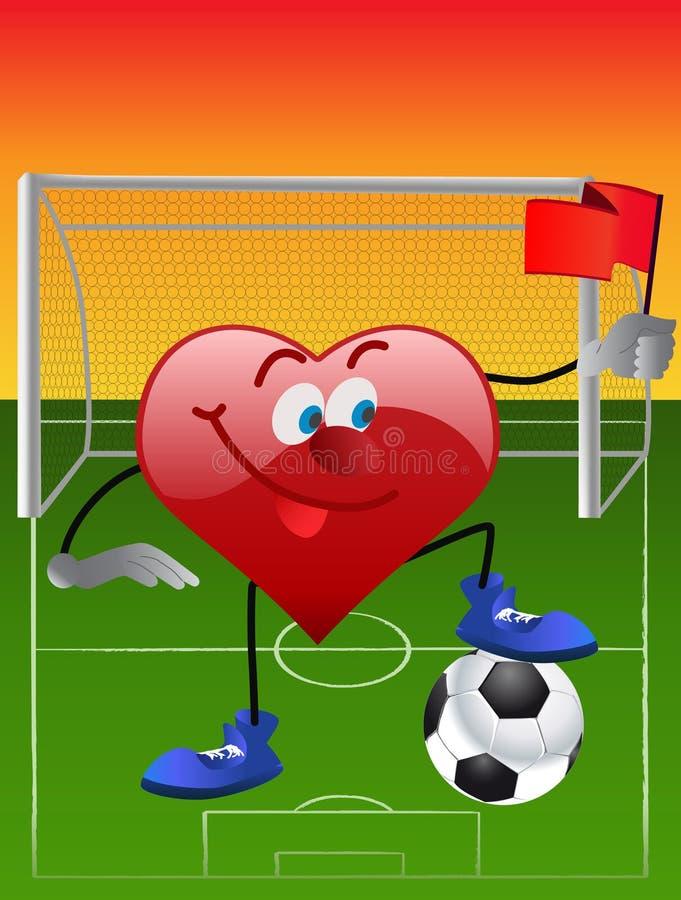 Download Leka för fotbollhjärta vektor illustrationer. Illustration av sinnesrörelse - 19783549