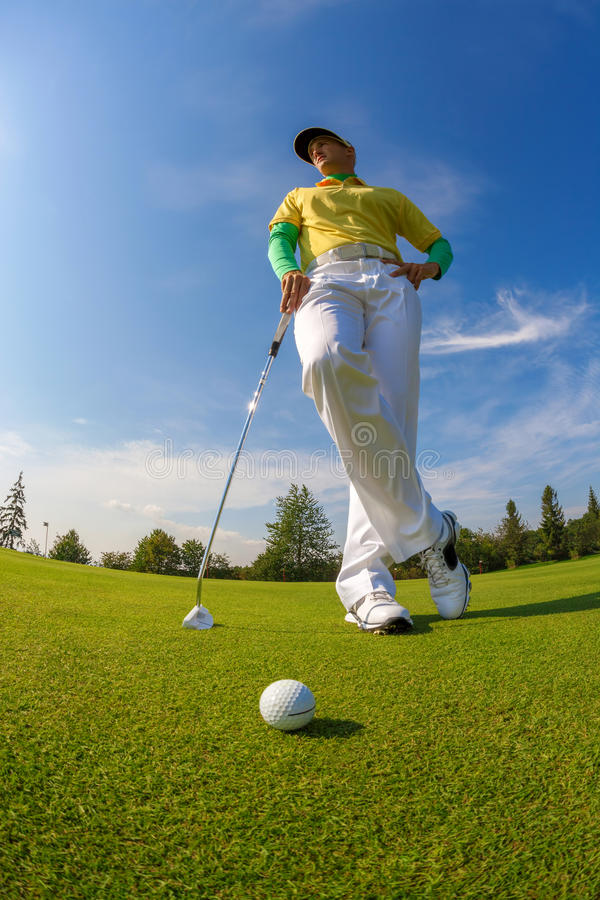 leka för golfman arkivbild