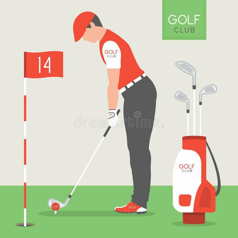 leka för golfman stock illustrationer