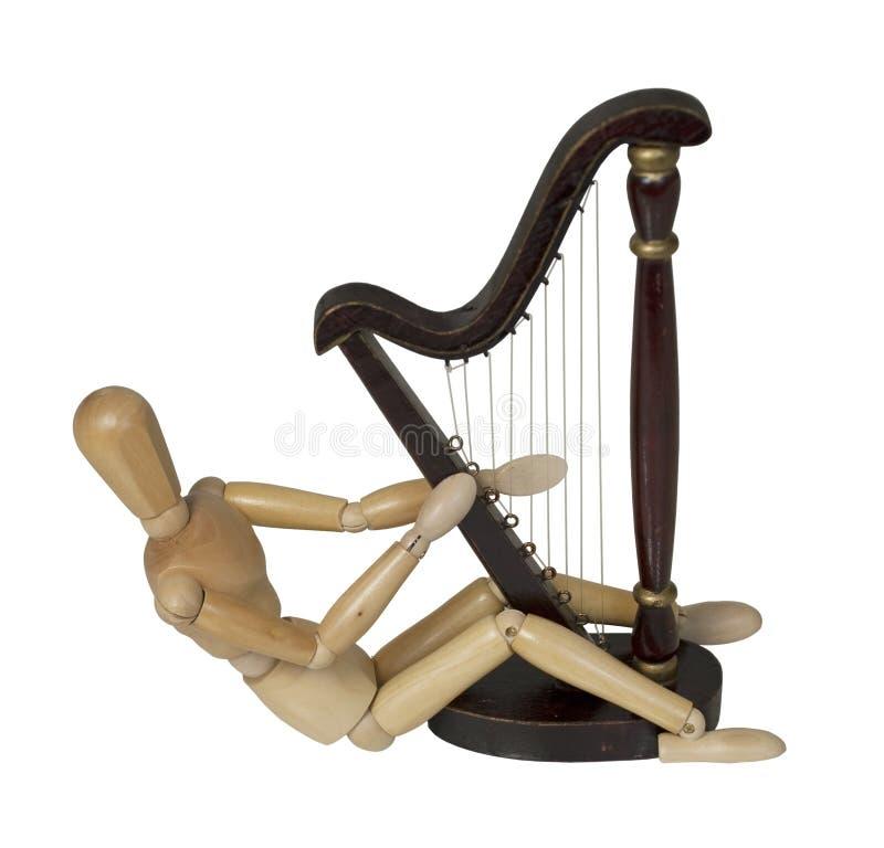 leka för harpa royaltyfri fotografi