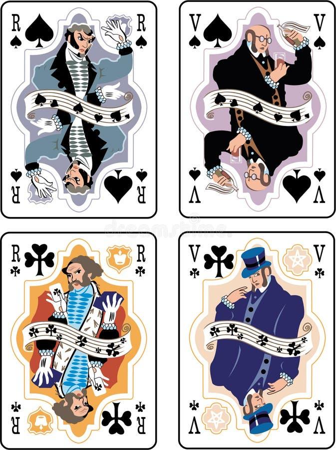 leka för kort royaltyfri illustrationer