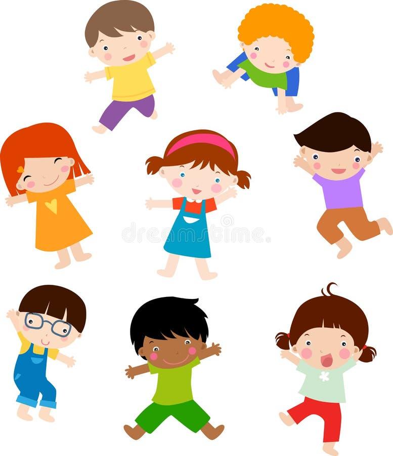 leka för pojkeflickor stock illustrationer