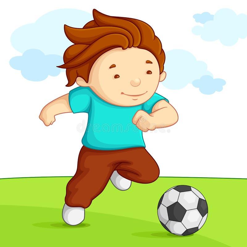 Leka fotboll för unge royaltyfri illustrationer