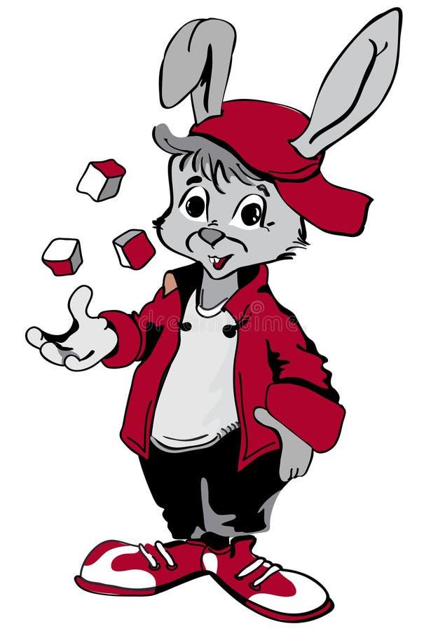 leka kanin vektor illustrationer