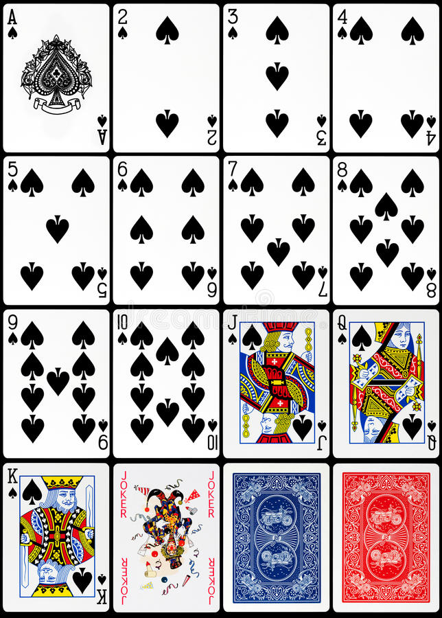 Leka kort - spadedräkt royaltyfri foto