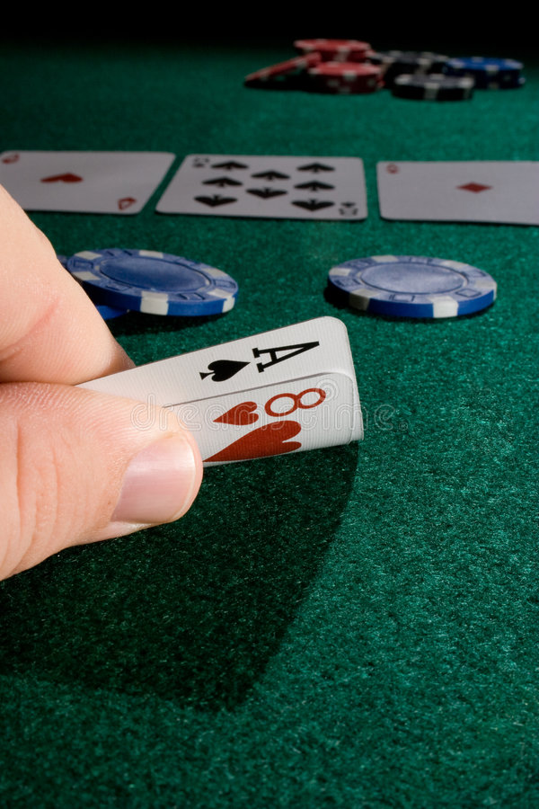 leka poker arkivfoton