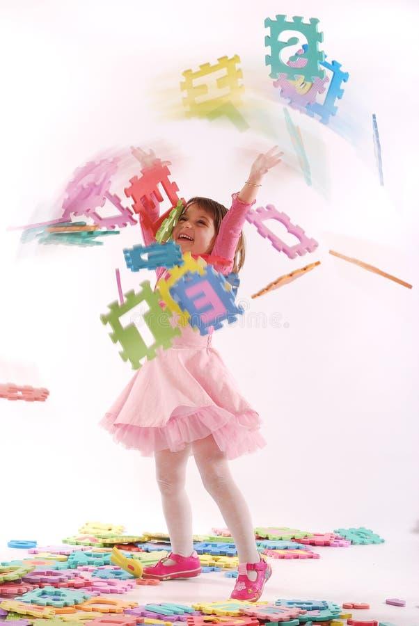leka pussel för barn royaltyfri foto