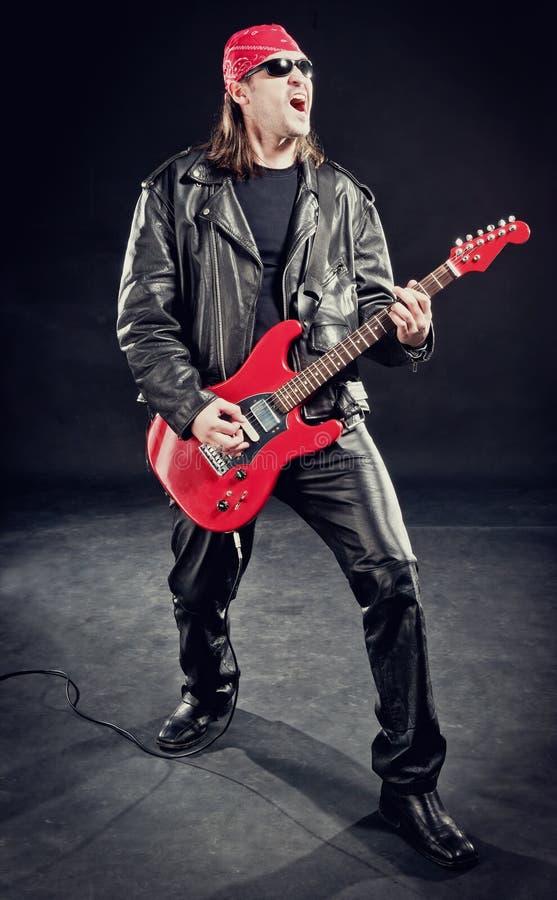 leka rockstjärna för konsert royaltyfri fotografi