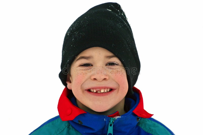leka snow för pojke royaltyfria bilder