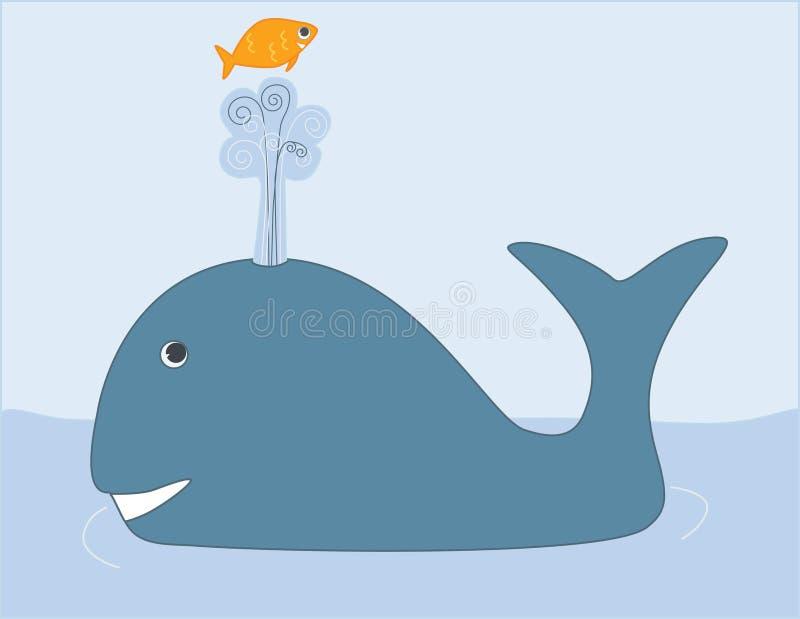 leka val för fisk royaltyfri illustrationer