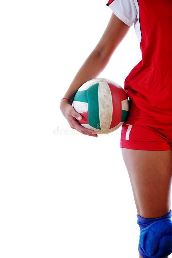leka volleyboll för gir royaltyfri fotografi