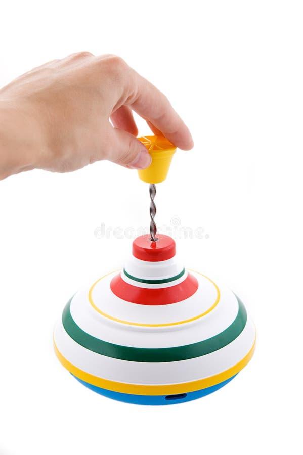 leka whirligig för hand royaltyfri bild