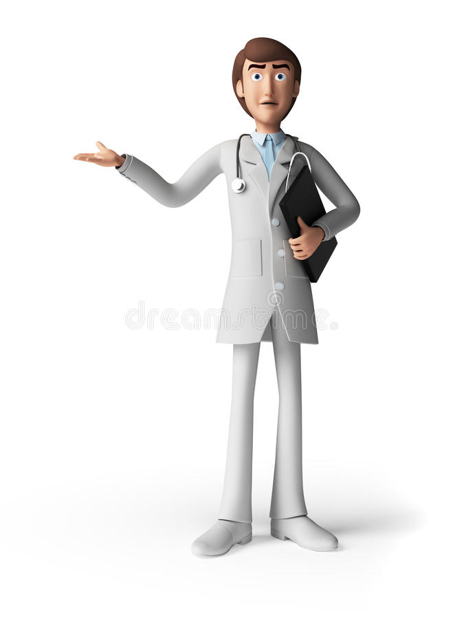 Lekarka - charakter ilustracji