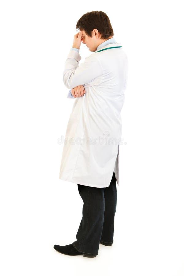 lekarka dotyka stresującego się mienia noseband fotografia stock