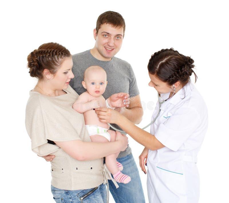 Lekarka i mały patien pediatrie zdjęcia royalty free