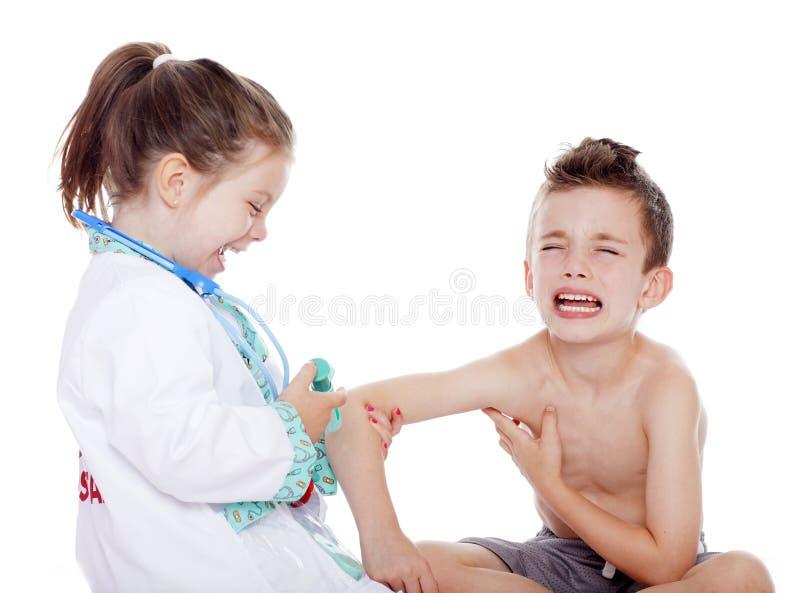 Lekarka i pacjent zdjęcia royalty free