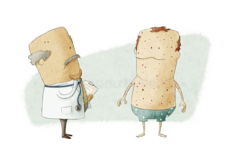 Lekarka i pacjent ilustracja wektor