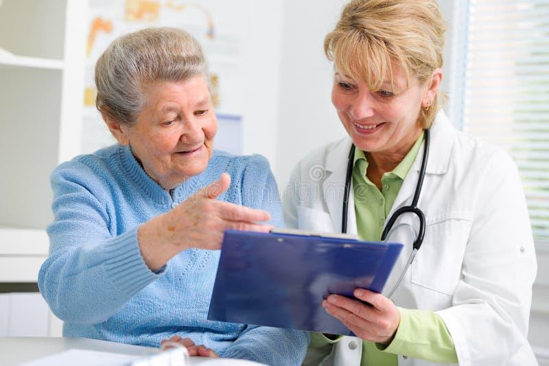 Lekarka i pacjent zdjęcie stock
