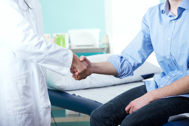 Lekarka i pacjent zdjęcia stock