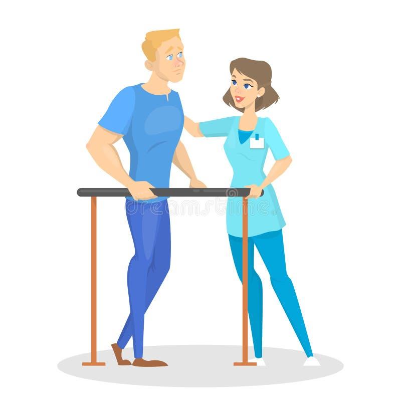 Lekarka i patinet w szpitalu Pomysł opieka zdrowotna royalty ilustracja