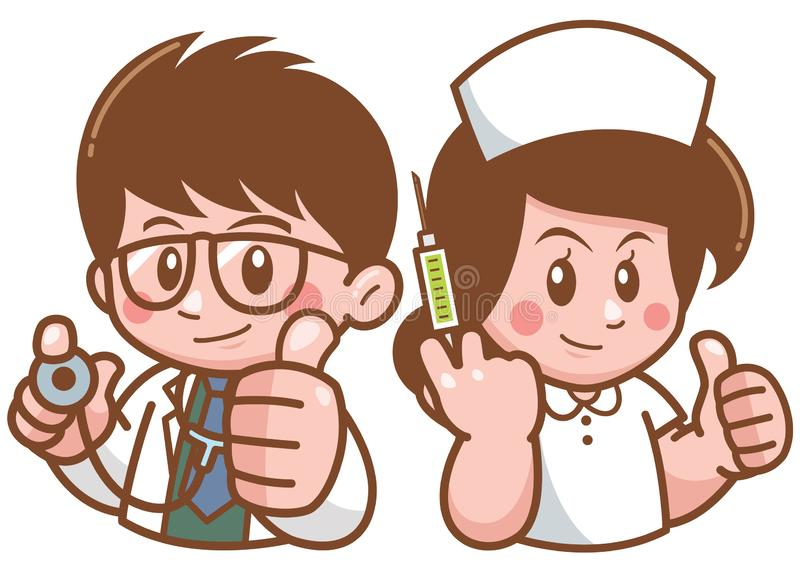 Lekarka i piel?gniarka royalty ilustracja