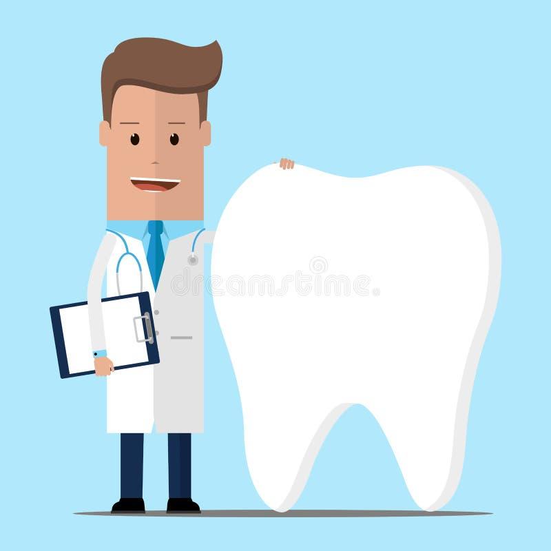 Lekarka i zęby, dentysty pojęcie również zwrócić corel ilustracji wektora royalty ilustracja