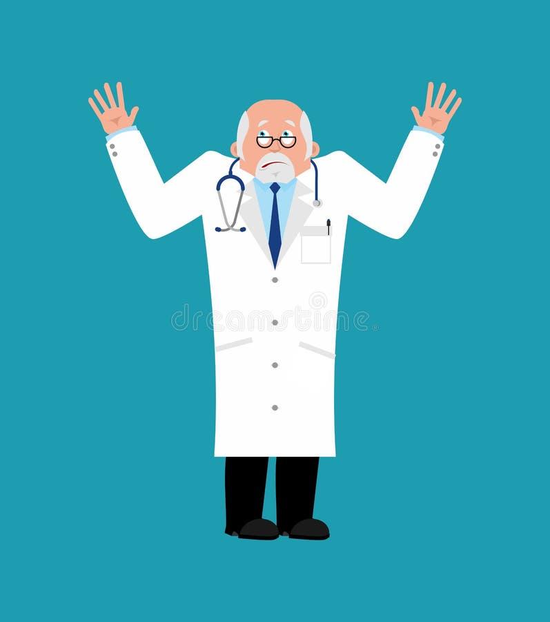 Lekarka oszołamiająca Lekarza zagubiony emoji Wektorowy Illustratio royalty ilustracja