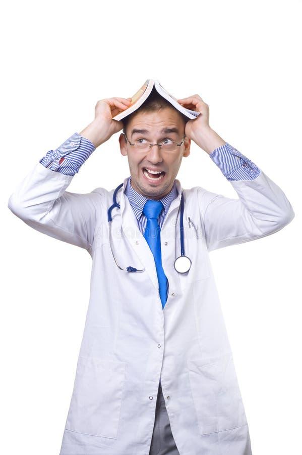 Lekarka z książką obrazy stock