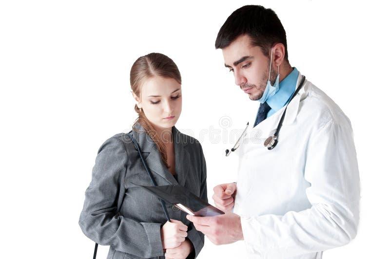 Lekarka z pacjentem. obraz stock