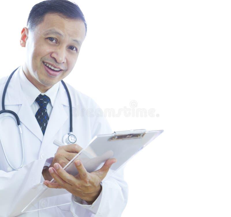 Lekarka z smiley twarzą obraz stock