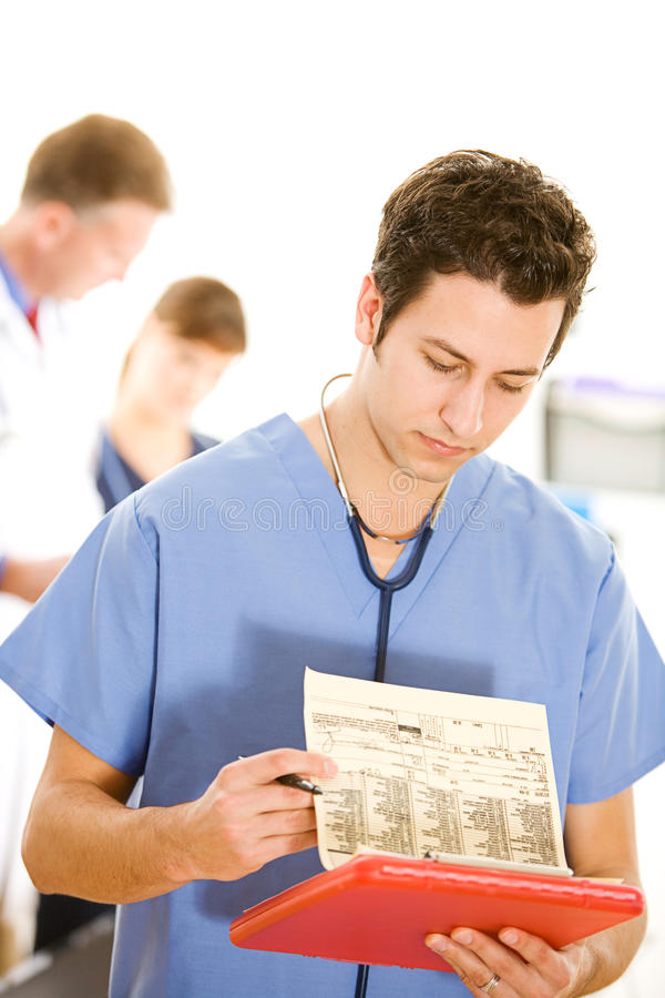 Lekarki: Doktorscy testów umiejętności czytania rezultaty zdjęcie stock
