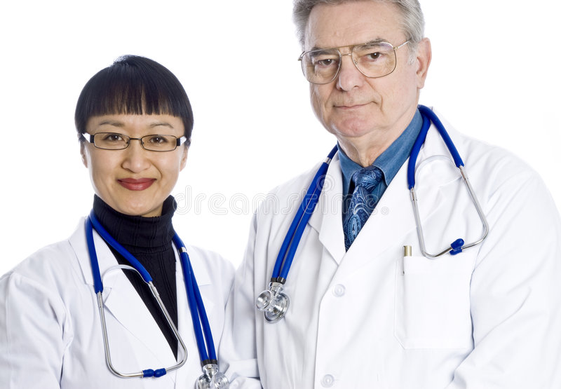 lekarki dwa obrazy royalty free