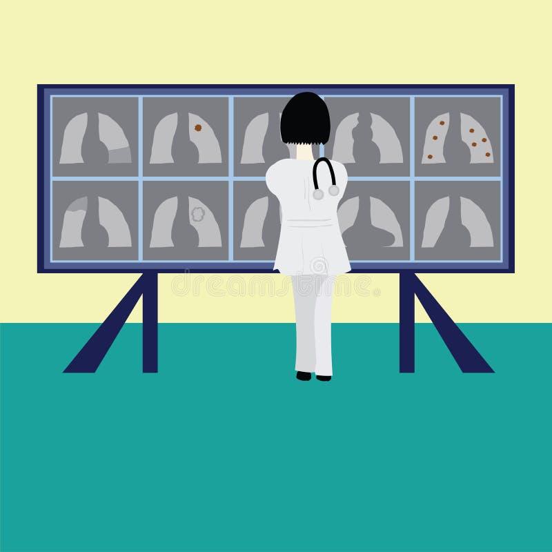 Lekarki i klatki piersiowej radiographs obraz stock