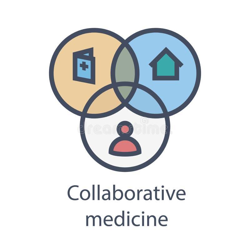 Lekarki, pacjenci, a współpracująca medycyna ONA, PHR lub EMR -, - ilustracja wektor