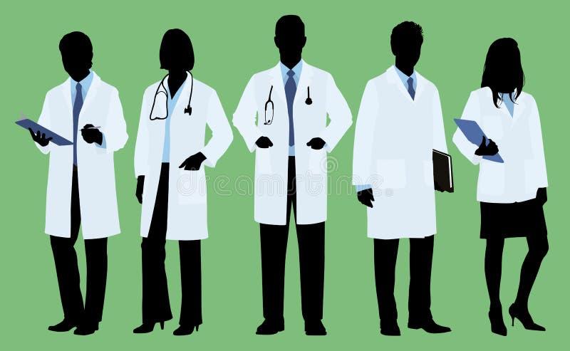 Lekarki w sylwetce ilustracji