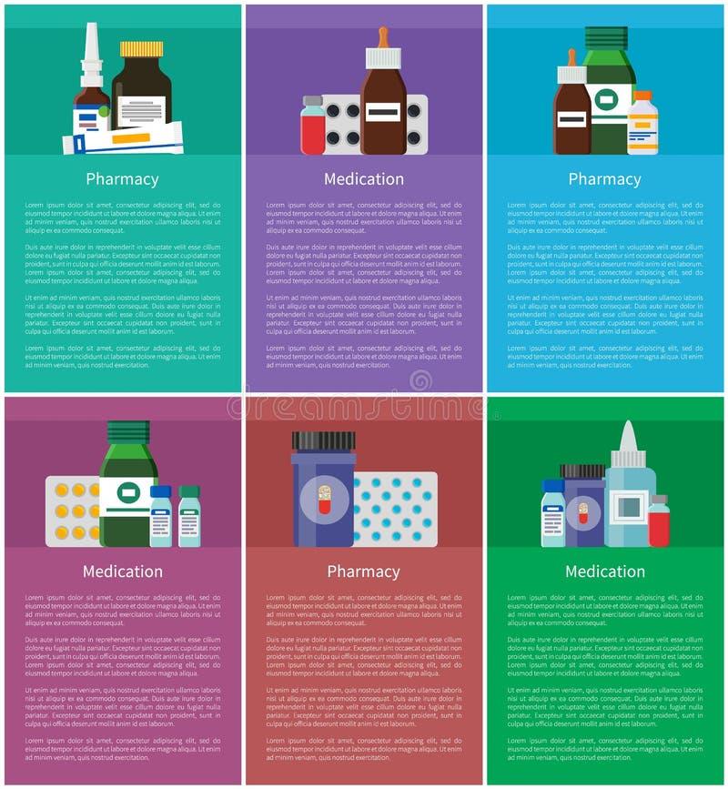 Lekarstwo apteki elementów wektoru ilustracja royalty ilustracja