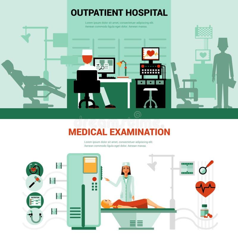 Lekarzów sztandary ilustracja wektor