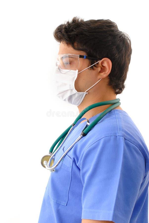 lekarz jest zmęczona zdjęcie stock